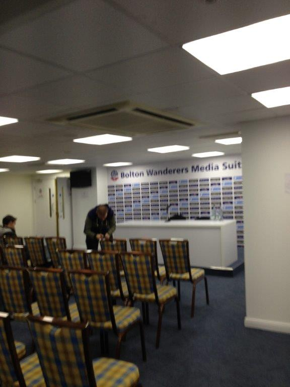 Bolton Wanderers Media Suite Refurb